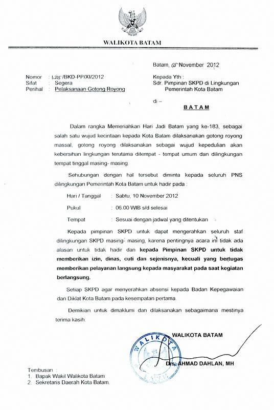 Se Pelaksanaan Gotong Royong Hari Jadi Kota Batam Ke 183 Badan